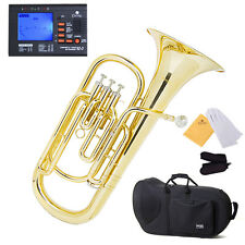 Mendini Mbr-20 Lacquer Brass B Flat Baritone With Stainless Steel Pistons