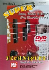 NEW Mel Bay's Super, Jazz, Rock, & Blues Techniques - For Electric Bass (DVD)