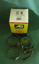 "STAINLESS STEEL BAND HOSE CLAMP 1-3/4""-2-3/4 AMGAUGE #36 CLAMPS 10 PIECES"