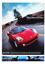 2003 Toyota Mr2 Spyder - red 6-speed -  Classic Advertisement Ad A38-B