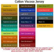 Cotton Viscose Jersey-ITALIAN MADE material over 35 colours, HIGH QUALITY