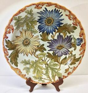 """Exceptional Gouda PZH Holland Charger, """"Unica"""" Jo Smit Decorated, c. 1930s"""