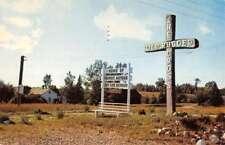 Reed City Michigan Old Cross Street View Vintage Postcard K83698