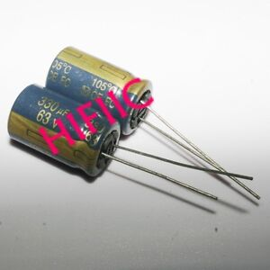 4PCS PANASONIC FC 330UF 63V Electrolytic Capacitors