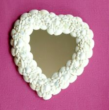 Sea Shell Heart Mirror - Nature's Ivory from the Beach