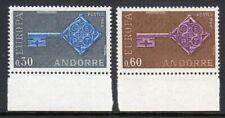 Andorra 1968 Europa set fine fresh MNH