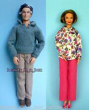 """Grandpa Grandma Happy Family Barbie Ken Doll Lot 2 Grandparents Pink Pants """""""