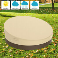 Round Daybed Outdoor Round Canopy Patio Furniture Sofa Water-resistant Cover NEW