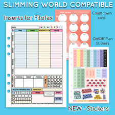 🥰A5 Diet Planner Pages Filofax Kikki Diary Slimming World Inserts Stationary🥰