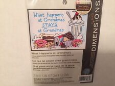 NEW Dimensions What Happens At Grandma's Sealed Stamped Cross Stitch Kit 7X5