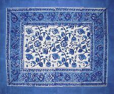 "Reversible Cotton Pillow Sham Rajasthan Block Print 28"" x 24"" Blue"