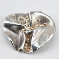 Wunderschöne Design Brosche aus Silber