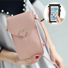 Lady/Girl Heart Crossbody Leather Wallet Case Purse Shoulder Bag Phone Pouch
