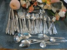 Oneida 18/8 USA Community Stainless VIGNETTE 81pc Set Service Excellent
