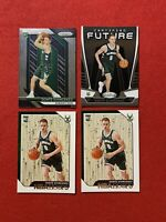 (4) Card Lot Donte DiVincenzo RC's 2 Hoops, 1 Certified And 1 Prizm