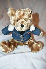 M&M TEDDY BEAR PLUSH WITH M&M JEAN JACKET EUC