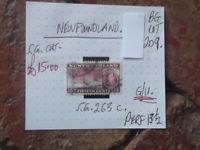 NEWFOUNDLAND 1937 King George VI seal  stamp 15c GU PERF 13 1/2  SG 263c