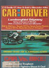 Car and Driver Magazine August 1977 Lamborghini Kawasaki KZ1000 Trans-Am
