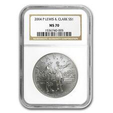 2004-P US Lewis & Clark Bicentennial Commemorative BU Silver Dollar - NGC MS70