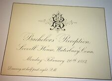 Rare Antique Victorian American Bachelors Reception Scoville House Waterbury, CT