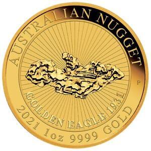 Australien 100 Dollar 2021 Australian Nugget - Premium-Anlagemünze 1 Oz Gold ST