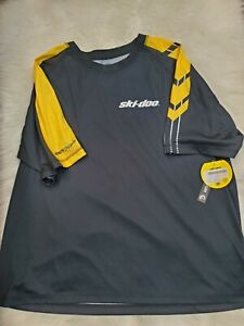 Ski-Doo Technical T Shirt BRP New Size 3X Black/Yellow  # 1661