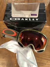 NEW Oakley A-frame 2.0 Wet Dry Snow Goggles Prizm Torch Iridium Lens