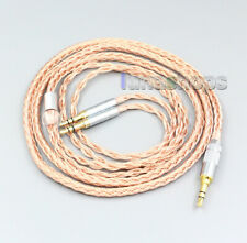 16 core silver plated Headphone Cable For Focal Clear Elear ElexElegia Stellia