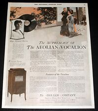 1919 OLD MAGAZINE PRINT AD, SUPREMACY OF THE AEOLIAN VOCALION, FLORENCE EASTON!