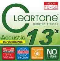 Cleartone 7613 80/20 Bronze 13-56 Medium Acoustic Guitar Strings .013-.056