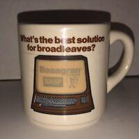 Vintage 70s 80s BASF Basagran Herbicide Broadleaves Coffee Cup Mug England Rare