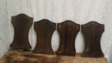 Set Of 4 Antique Salvaged Oak Panels Parts Pieces For Restoration Projects