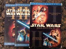 Star Wars Episodes I & II 2-Pack (DVD, 2002, 4-Disc Set, Full Frame)Authentic US