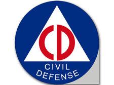 4x4 inch Round Civil Defense Logo Sticker - bumper seal insignia cd civilians us