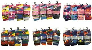 New Kid's Boys Girls 12 Pair Multipack Novelty Unicorn Football Colourful Socks