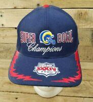 NFL 2000 Super Bowl Tennessee Titans St Louis LA Rams Football SnapBack Hat Cap