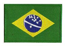 Patche écusson patch Brésil Brazil flag 85x55mm thermocollant drapeau