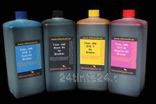 4 x 1 L Liter Tinte CISS für Brother MFC DCP LC 4L 1220 1240 985 980 1100 900 1L