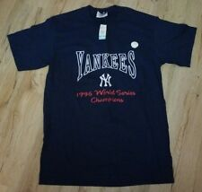 New York Yankees 1996 World Series Champs EMBROIDERED T-Shirt men's size-Medium