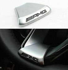 AMG Steering Wheel Emblem Decal Sticker Badge Trim Fit For Benz AMG C / E / GLC