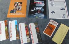 Nikon MIX Vintage Brochure Lot Photography Photographic Literature