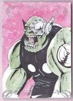 2018 MARVEL MASTERPIECES SKRULL SKETCH CARD BY FRAN FDEZ #1/1 ONE OF ONE