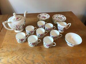 Coalport San Remo Tea Set (Teapot, 8 place settings ,milk jug & sugar bowl)