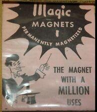 Rare Antique #305 MAGIC MAGNETS NOS Unbroken Unopened Magician Trick Collectors
