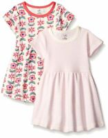 Touched by Nature Baby Organic Cotton Dress, 2-Pack, Flower