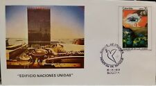 L) 1983 Colombia, Dawn In The Andes, Painting, United Nations Building, Fdc