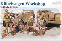 Dragon 1/35 German Kubelwagen Workshop w/DAK Plastic Model Kit DR6338