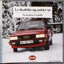 AUDI 80 quattro LA TECNICA GUIDA BROCHURE LIBRETTO PROSPEKT DEPLIANT 1983