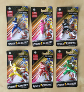 6 Power Rangers Mini figures Limited Edition Collectable Pink Black Blue Ranger