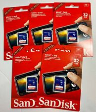 LOT OF 5 SanDisk SDSDB-032G-AW46 32GB Class 4 SD Card NEW SEALED SDHC HD Flash